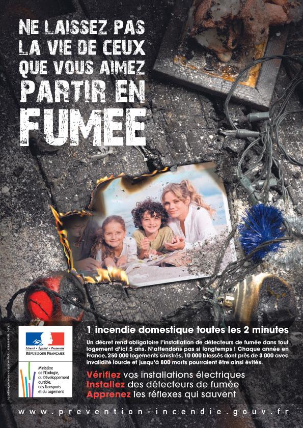 Affiche Incendie Domestique